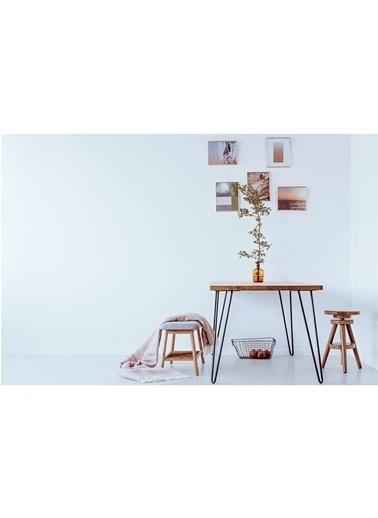 222 Concept Masif Ağaç Meşe Renk 100x60x3 cm Yemek Masası Renkli
